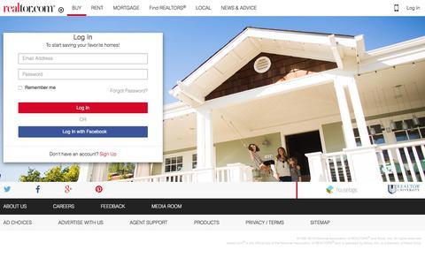 Screenshot of Signup Page realtor.com - Find Real Estate, Homes for Sale, Apartments & Houses for Rent - realtor.com¨ - captured Dec. 10, 2015