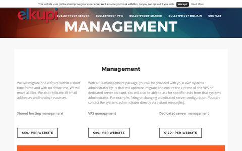 Screenshot of Team Page elkupi.com - Management - ElKupi.com - captured May 16, 2017