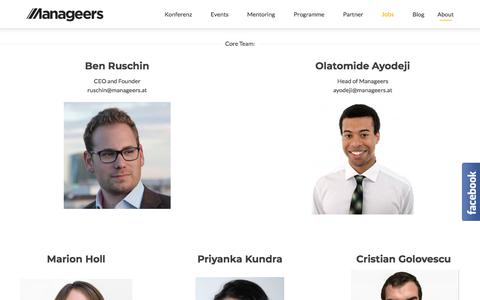Screenshot of About Page manageers.at - About | Manageers Community - captured Feb. 11, 2018