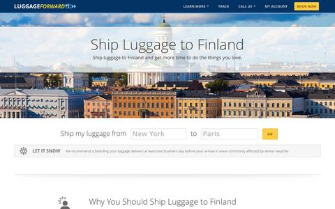 Ship Luggage to Finland | Ship Sports Gear to Finland
