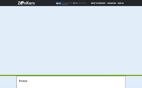 Screenshot of Press Page zenkars.com - Zenkars - captured Oct. 25, 2014
