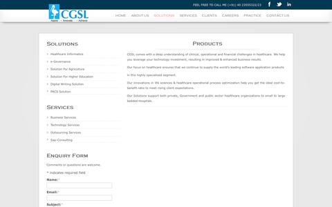 Screenshot of Products Page cgslimited.com - Welcome to Crane Global Solutions Limited - CGSL - captured Oct. 3, 2014