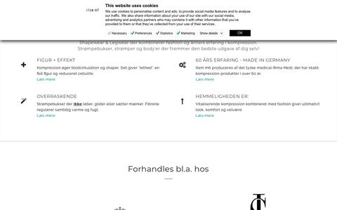 Screenshot of Home Page item-m6.dk - Home - ITEM m6 - the intelligent legwear - captured Oct. 11, 2018