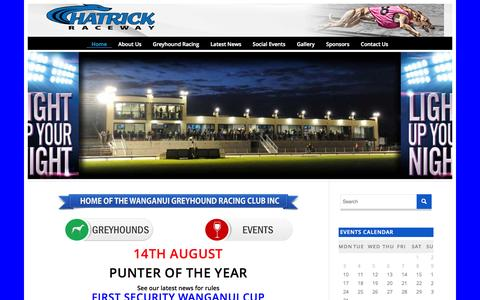 Screenshot of Home Page wanganuigreyhounds.co.nz - Wanganui grey hounds | Just another WordPress site - captured Aug. 10, 2015