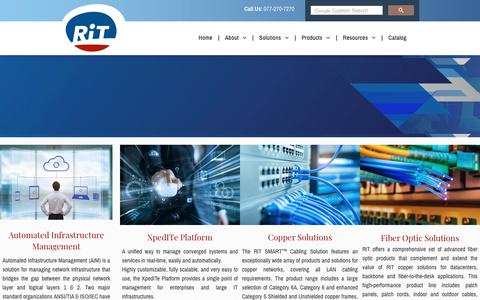 Screenshot of Products Page rittech.com - RiT Tech Ltd. | Products - captured Nov. 3, 2018
