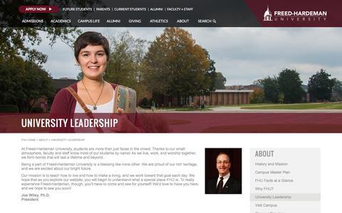 Screenshot of Team Page fhu.edu - FHU - University Leadership - captured Jan. 29, 2016