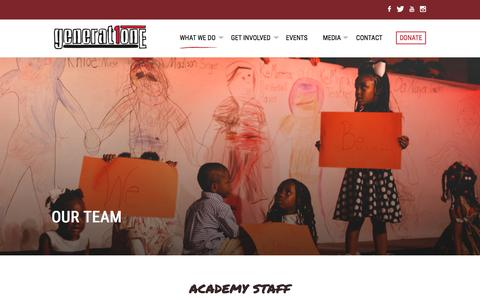 Screenshot of Team Page generationone.net - Our Team | Generation One - captured Nov. 4, 2016