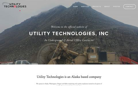 Screenshot of Home Page utilitytechnologies.net - Utility Technologies, Inc - captured Nov. 3, 2017
