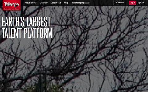 Screenshot of About Page tallenge.com - About Tallenge |Earth's Largest Talent Platform - captured Jan. 7, 2016