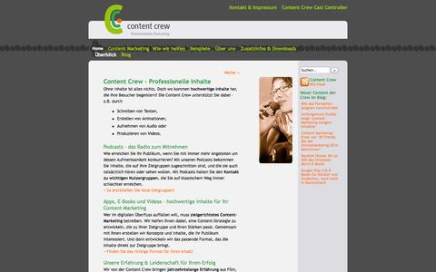 Screenshot of Home Page content-crew.de - Content Crew - Professionelles Podcasting - captured Oct. 3, 2014
