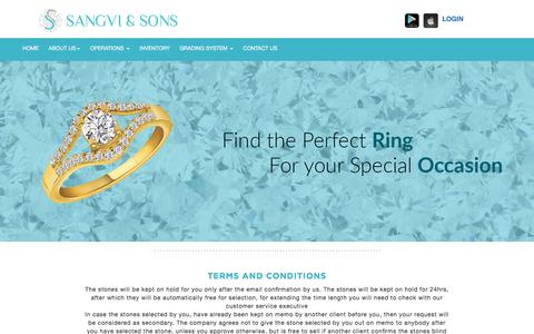 Screenshot of Terms Page sanghvisons.com - Sanghvi & Sons | Buy Loose Diamonds in India,Buy Certified Diamonds in India,Buy Cheap Loose Diamonds in India - captured July 25, 2018