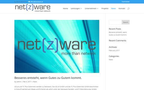 Screenshot of Press Page netzware.at - News | Netzware - captured Feb. 4, 2018