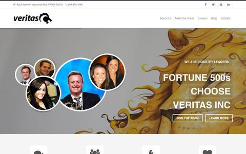 Screenshot of Home Page veritasatlanta.com - Veritas Inc | Atlanta GA - captured Sept. 25, 2015