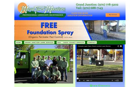 Screenshot of Home Page mesaturfmasters.com - Colorado Lawn Care | Grand Junction Lawn Service - captured Oct. 6, 2014