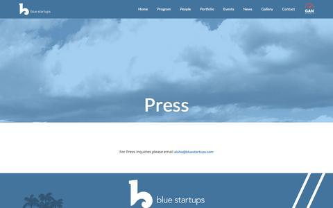 Screenshot of Press Page bluestartups.com - Press – Blue Startups - captured Nov. 22, 2016