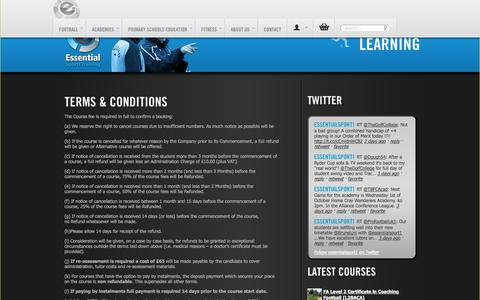 Screenshot of Terms Page essentialsports.co.uk - Terms & Conditions » Essential Sports Training Ltd - captured Oct. 3, 2014