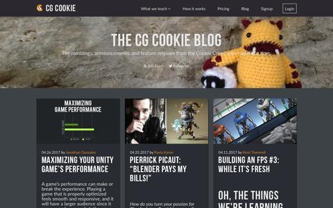 Screenshot of Blog cgcookie.com - Blog « CGCookie - captured May 16, 2017