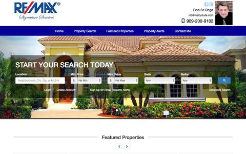 Screenshot of Home Page realtydude.com - Inland Empire Homes for Sale - captured Sept. 27, 2016
