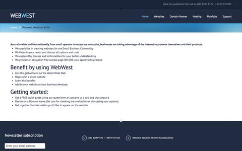 Webwest - Affordable website design for small businesses.