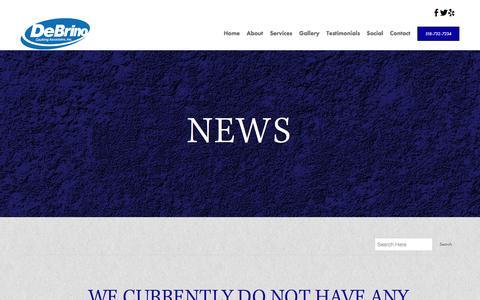 Screenshot of Press Page debrino.com - News - Debrino Caulking Associates, Inc - captured Nov. 24, 2016