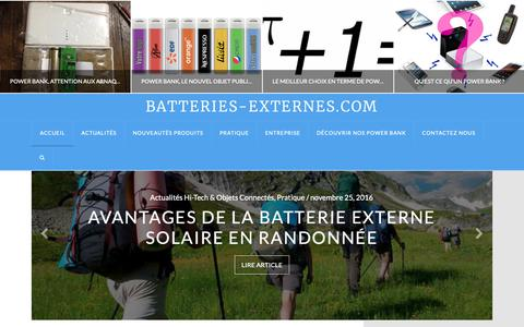 Screenshot of Blog batteries-externes.com - Test Batterie externe: Avis & Nouveautés Accessoire Mobile - captured Dec. 12, 2018