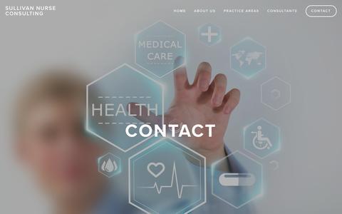 Screenshot of Contact Page sullivannurseconsulting.ca - Contact Ń Sullivan Nurse Consulting - captured Jan. 12, 2016