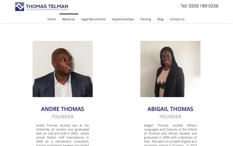 Screenshot of About Page thomastelman.com - Thomas Telman - Apprentice & Graduate Legal Recruitment - captured Dec. 23, 2016