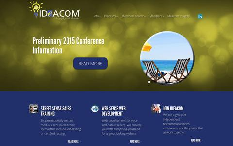 Screenshot of Home Page ideacom.org - Ideacom | Our people provide the ideas - captured Oct. 6, 2014