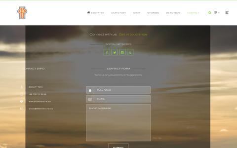 Screenshot of Contact Page 810mntncrw.se - eight ten Contact | eightten - captured Oct. 27, 2014