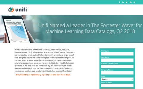 Screenshot of Landing Page unifisoftware.com captured Sept. 19, 2018