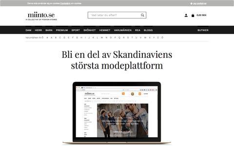 Screenshot of Signup Page miinto.se - Kläder | handla kläder online i Sveriges bästa klädbutiker | miinto.se - captured Sept. 11, 2016