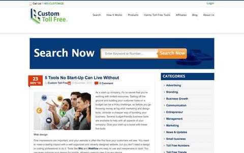 Screenshot of Blog customtollfree.com - Toll Free Blog - Custom Toll Free - captured Dec. 14, 2015