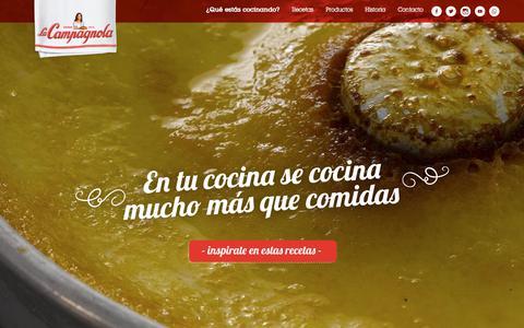 Screenshot of Home Page lacampagnola.com - Bienvenido a LaCampagnola | LaCampagnola - captured Feb. 14, 2018