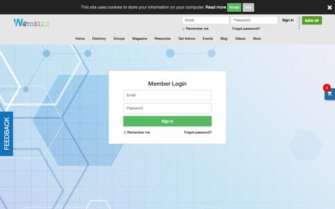 Screenshot of Login Page womelle.com - Users | WomELLE - captured Nov. 2, 2018