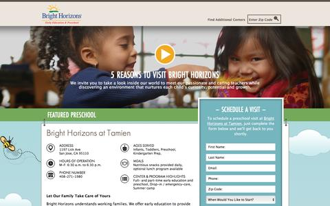 Screenshot of Landing Page brighthorizons.com - Bright Horizons® | Child Care, Back-Up Care, Early Education, and Work/Life Solutions - captured Feb. 28, 2017