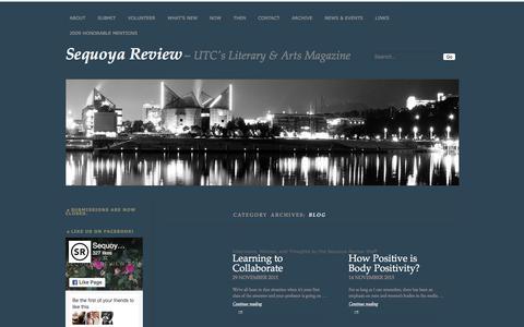 Screenshot of Blog sequoyareview.com - Blog   Sequoya Review - captured July 21, 2016