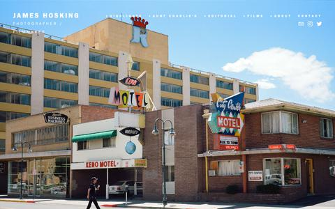 Screenshot of Home Page jameshosking.com - JAMES HOSKING - captured Nov. 20, 2018
