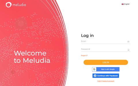 Screenshot of Login Page meludia.com - Meludia - Log in - captured Nov. 13, 2019
