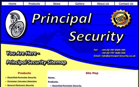 Screenshot of Site Map Page principal-security.co.uk - Sitemap - captured Oct. 3, 2014
