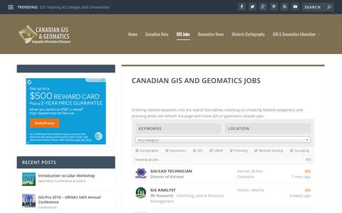 Canadian GIS and Geomatics Jobs | Canadian GIS & Geomatics