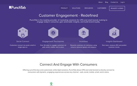 Screenshot of Products Page punchtab.com - PunchTab, Omni-channel White Label Loyalty and Engagement Programs for Brands, Agencies and Enterprise - captured Sept. 11, 2014
