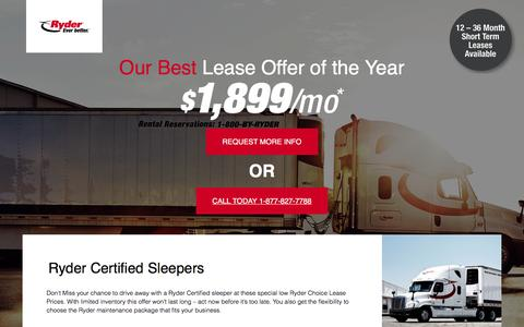 Screenshot of Landing Page ryder.com - Our best lease offer this year! - captured April 8, 2018