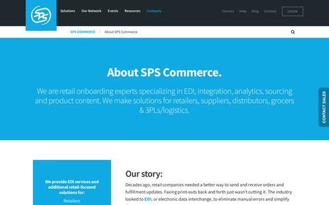 Screenshot of About Page spscommerce.com - About SPS Commerce | EDI Provider | Vendor Onboarding | Supply Chain - captured Oct. 14, 2017