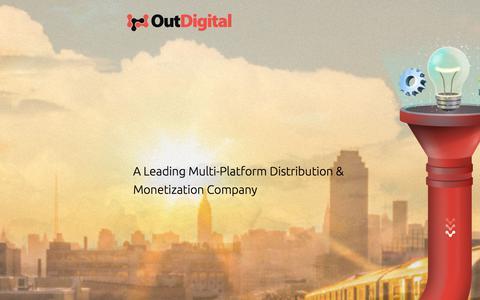 Screenshot of Home Page revenyou.com - OutDigital -  A Leading Multi-Platform Distribution & Monetization Company - captured Sept. 21, 2018