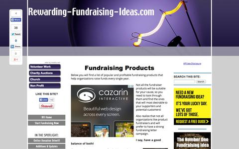 Screenshot of Products Page rewarding-fundraising-ideas.com - Fundraising Products - Rewarding Fundraising Ideas - captured Oct. 30, 2014