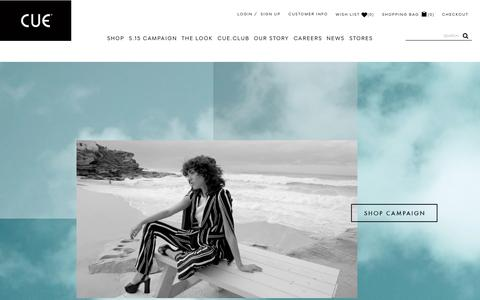 Screenshot of Home Page cue.cc - Cue | Shop Online - captured Oct. 15, 2015