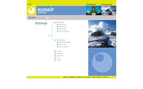Screenshot of Site Map Page sunair.nl - Sunair - sitemap - boek online uw vakantie - captured Sept. 30, 2014