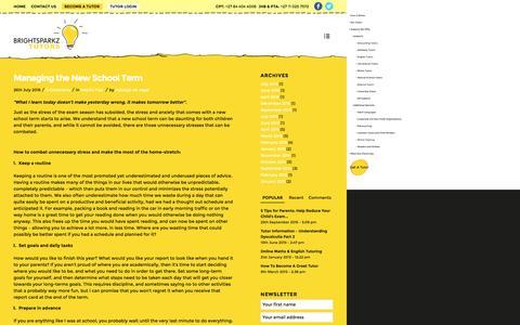 Screenshot of Blog brightsparkz.co.za - Tutor Blog - BrightSparkz Tutors - captured Nov. 23, 2016