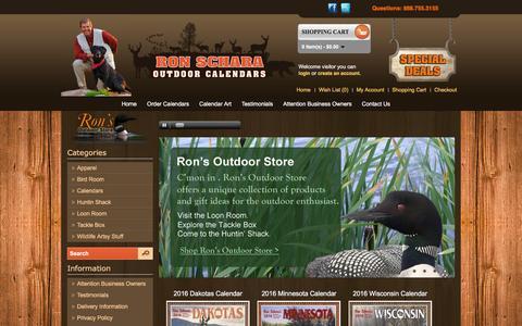 Screenshot of Home Page outdoorcalendars.com - Outdoor Calendars 2016 Outdoorcalendars.com - captured Feb. 23, 2016
