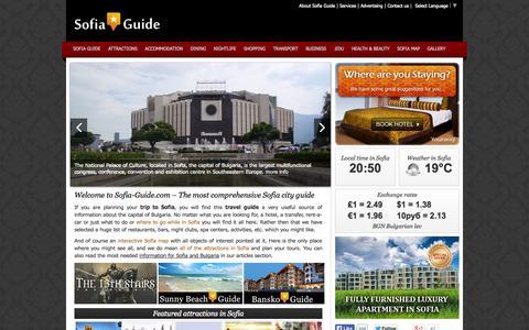 Screenshot of Home Page sofia-guide.com - Sofia Guide | Travel Guide Sofia City | Sofia Guide - captured Sept. 19, 2014